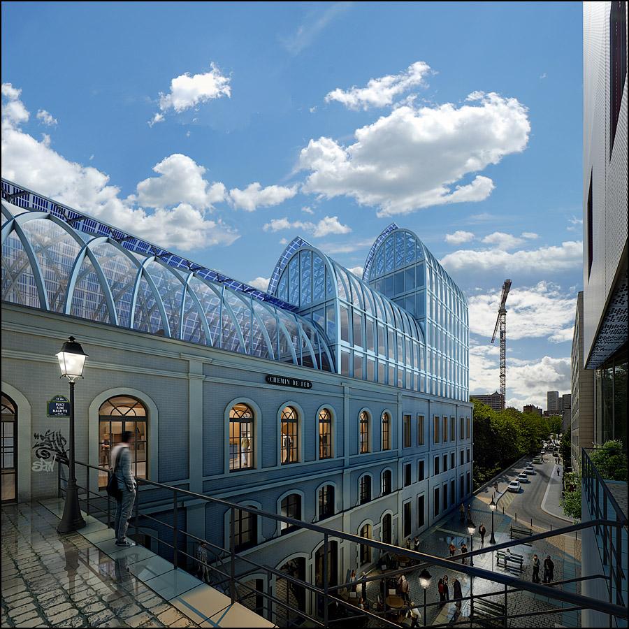 Réinventer Paris, Gare MassénaParc Architectes / Publicis